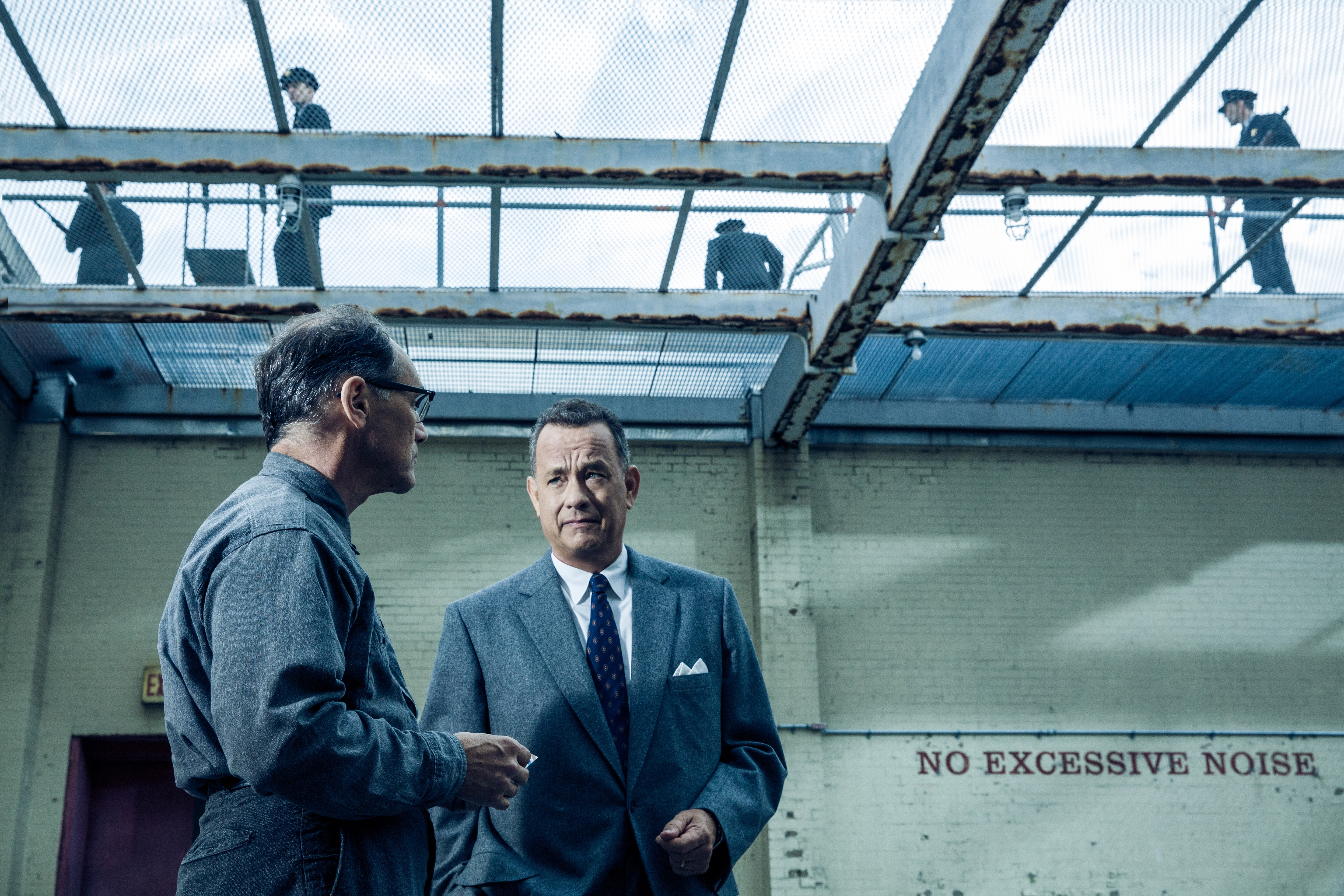 Tom Hanks is Brooklyn lawyer James Donovan and Mark Rylance is Soviet agent Rudolf Abel in the dramatic thriller BRIDGE OF SPIES, directed by Steven Spielberg.