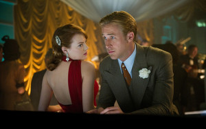 film title...Gangster Squad - 2013...No Merchandising. Editorial Use Only. No Book Cover Usage Mandatory Credit: Photo by c.Warner Br/Everett / Rex Features (2052126p) GANGSTER SQUAD, from left: Emma Stone, Ryan Gosling Gangster Squad - 2013