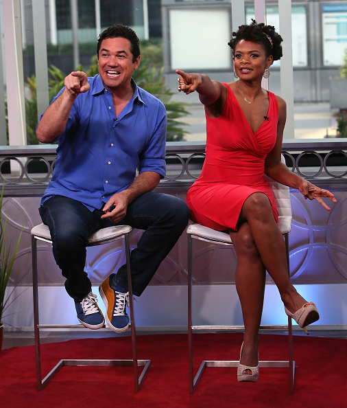 HOLLYWOOD, CA - SEPTEMBER 02: Actors Dean Cain (L) and Kimberly Elise visit Hollywood Today Live on September 2, 2016 in Hollywood, California. (Photo by David Livingston/Getty Images)